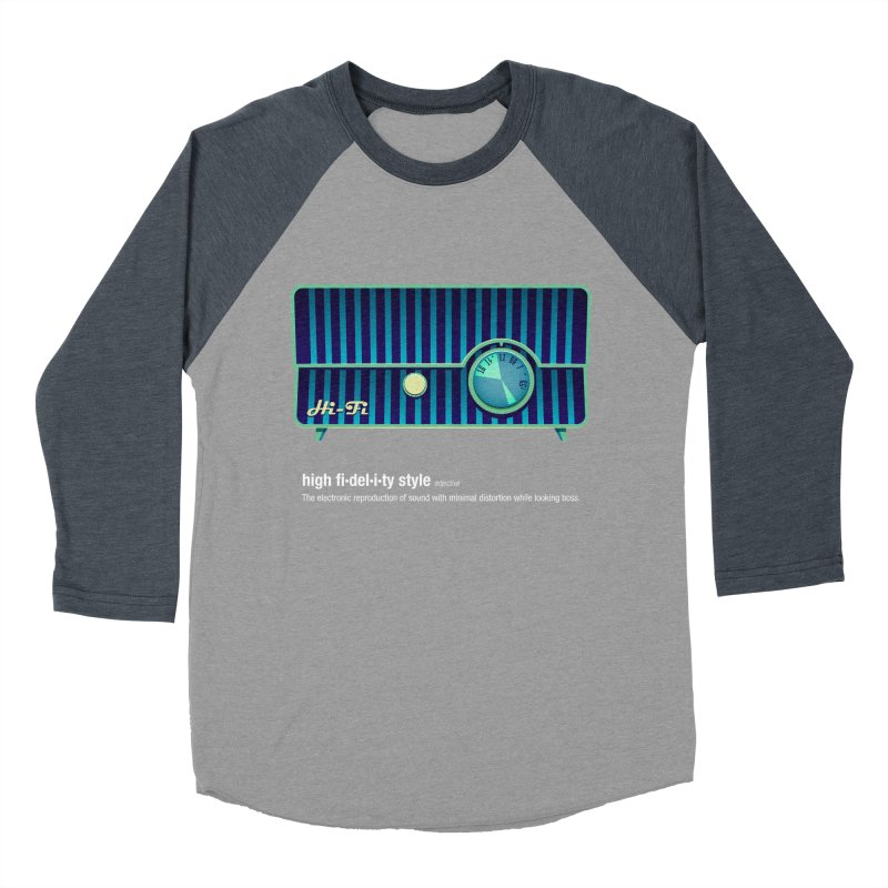 high fi·del·i·ty '58 Women's Baseball Triblend Longsleeve T-Shirt by Ian Glaubinger on Threadless!