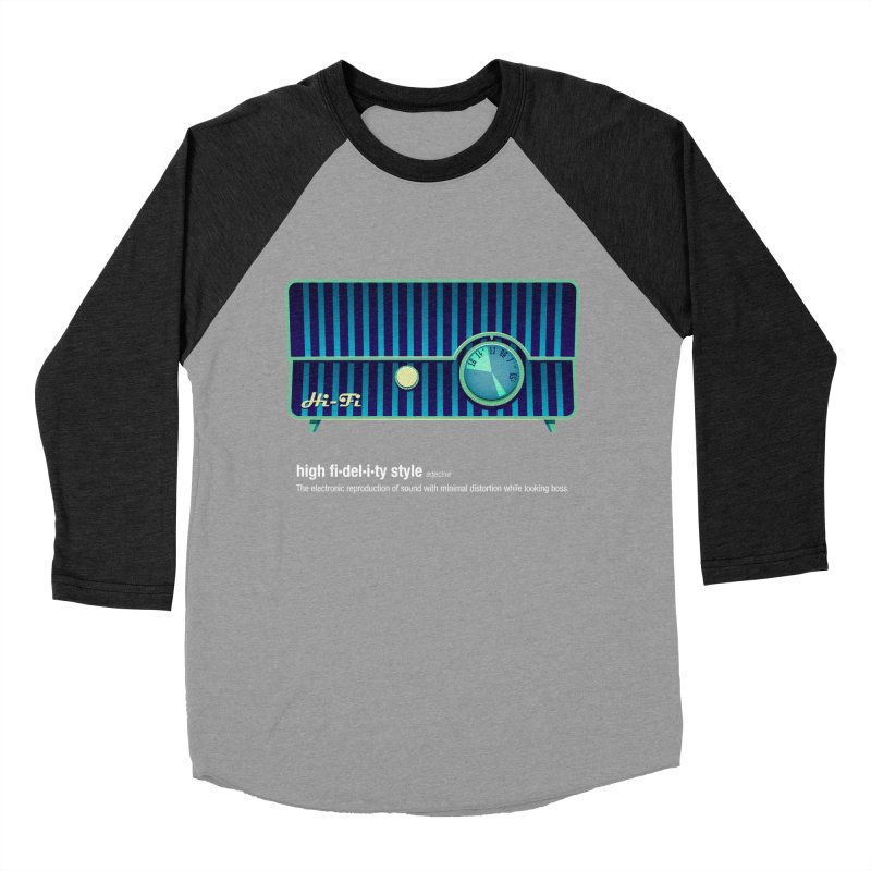 high fi·del·i·ty '58 Men's Baseball Triblend Longsleeve T-Shirt by Ian Glaubinger on Threadless!
