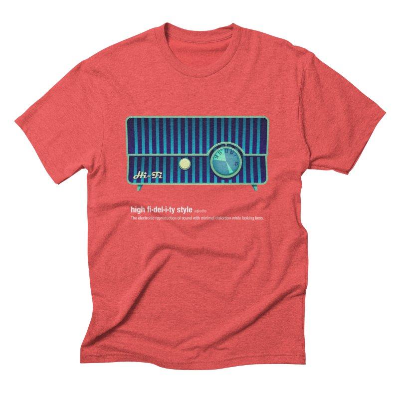 high fi·del·i·ty '58 Men's Triblend T-shirt by Ian Glaubinger on Threadless!