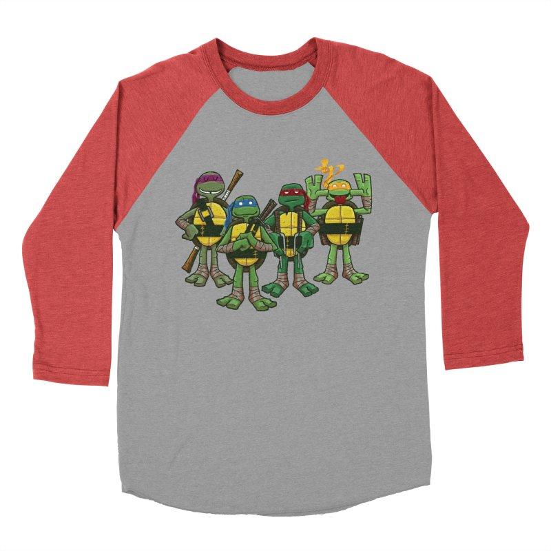 Half Shells Women's Baseball Triblend T-Shirt by Ian Glaubinger on Threadless!