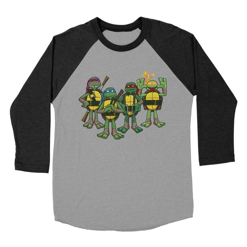 Half Shells Men's Baseball Triblend T-Shirt by Ian Glaubinger on Threadless!