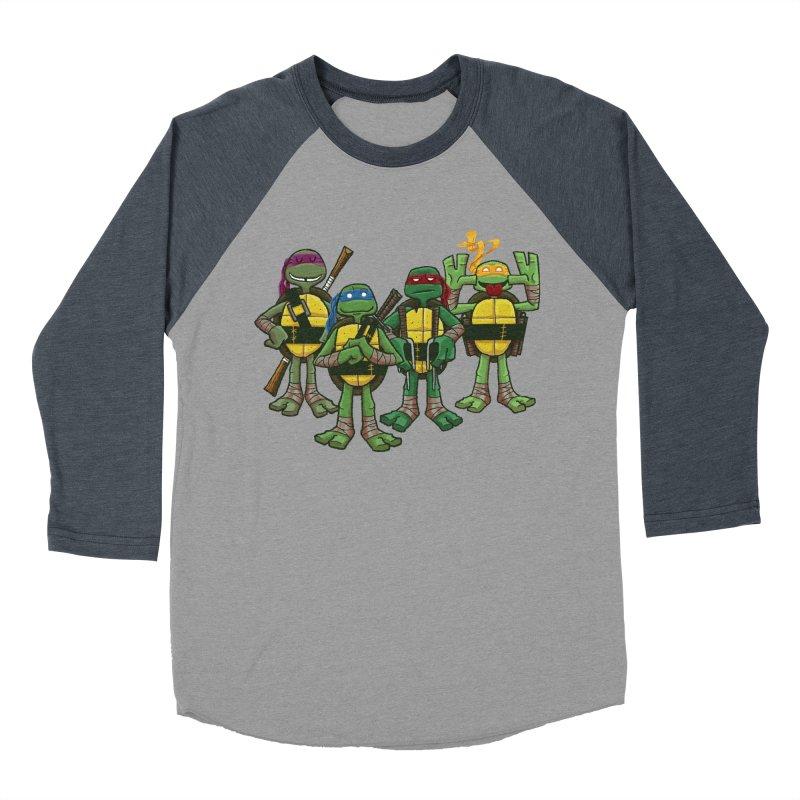 Half Shells Men's Baseball Triblend Longsleeve T-Shirt by Ian Glaubinger on Threadless!