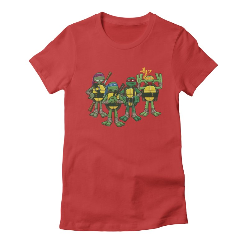 Half Shells Women's Fitted T-Shirt by Ian Glaubinger on Threadless!
