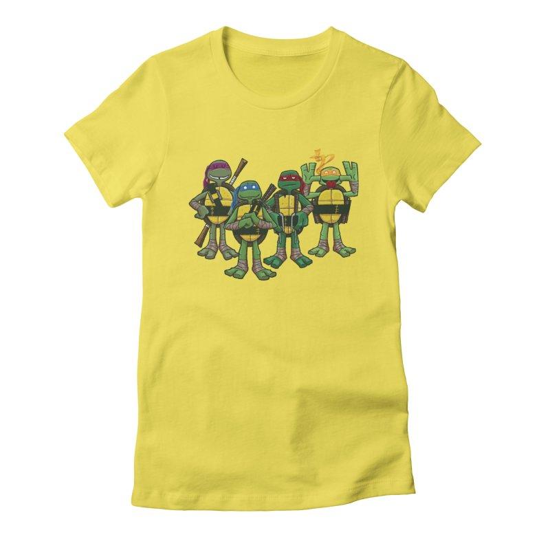 Half Shells Women's Fitted T-Shirt by Ian Glaubinger on Threadless!