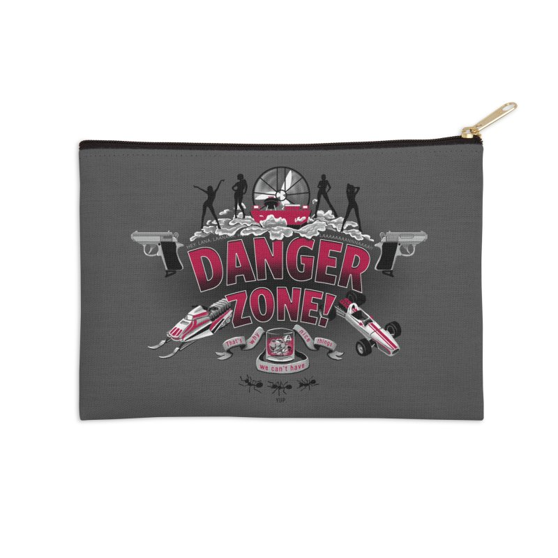 Danger Zone! Accessories Zip Pouch by Ian Leino @ Threadless