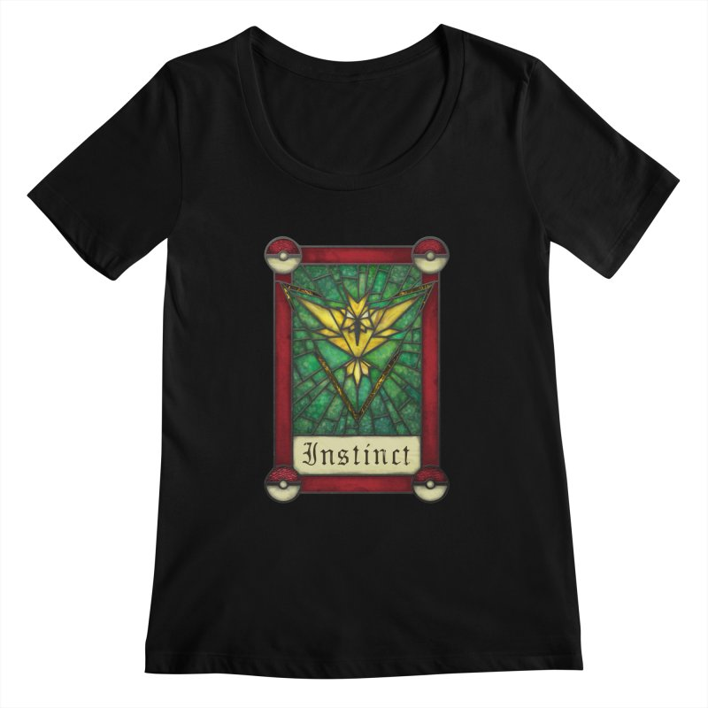 Stained Glass Series - Instinct Women's Scoopneck by Ian Leino @ Threadless