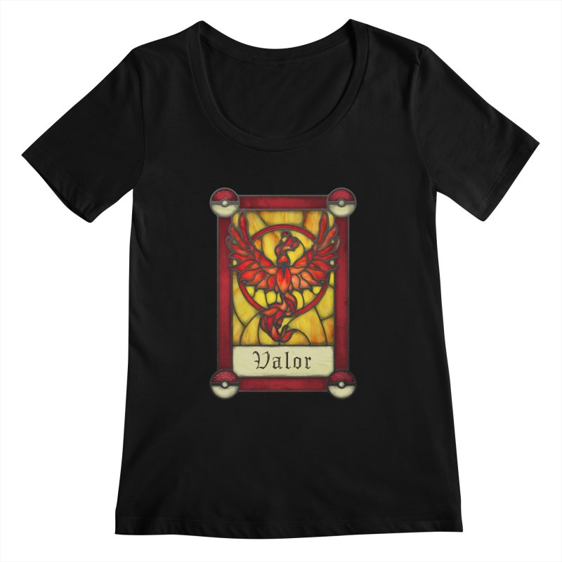 Stained Glass Series - Valor Women's Scoopneck by Ian Leino @ Threadless