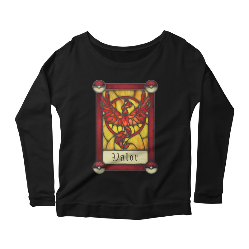 Stained Glass Series - Valor Women's Scoop Neck Longsleeve T-Shirt by Ian Leino @ Threadless
