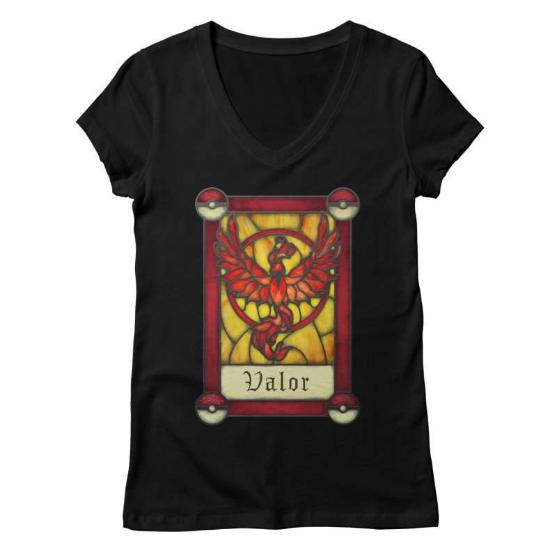 Stained Glass Series - Valor Women's V-Neck by Ian Leino @ Threadless