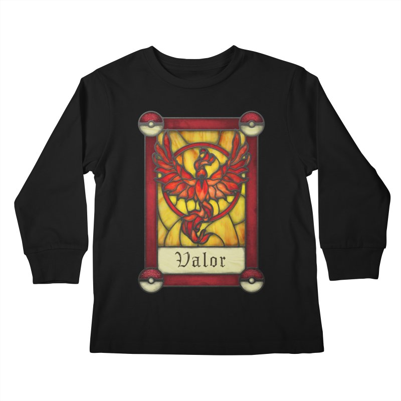 Stained Glass Series - Valor Kids Longsleeve T-Shirt by Ian Leino @ Threadless