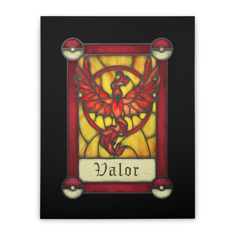 Stained Glass Series - Valor Home Stretched Canvas by Ian Leino @ Threadless