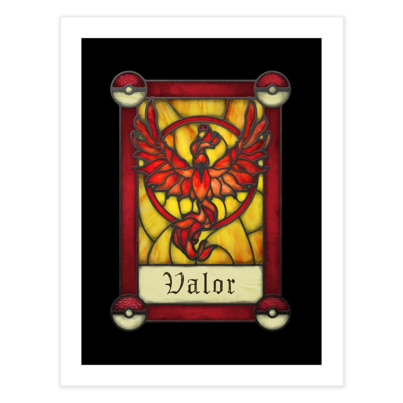 Stained Glass Series - Valor Home Fine Art Print by Ian Leino @ Threadless