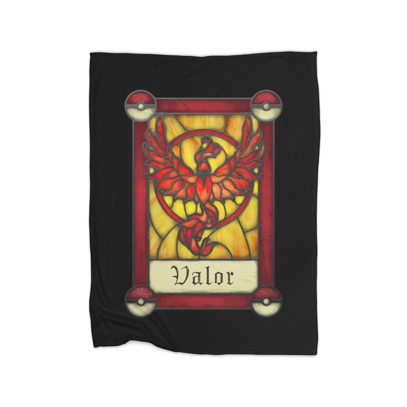 Stained Glass Series - Valor Home Fleece Blanket Blanket by Ian Leino @ Threadless
