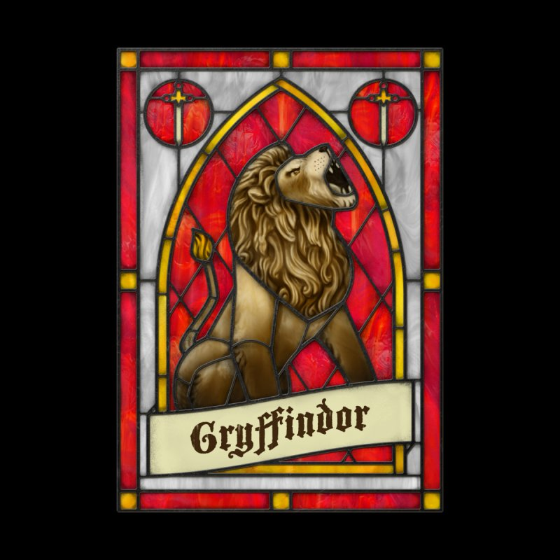 Stained Glass Series - Gryffindor Kids Longsleeve T-Shirt by Ian Leino @ Threadless