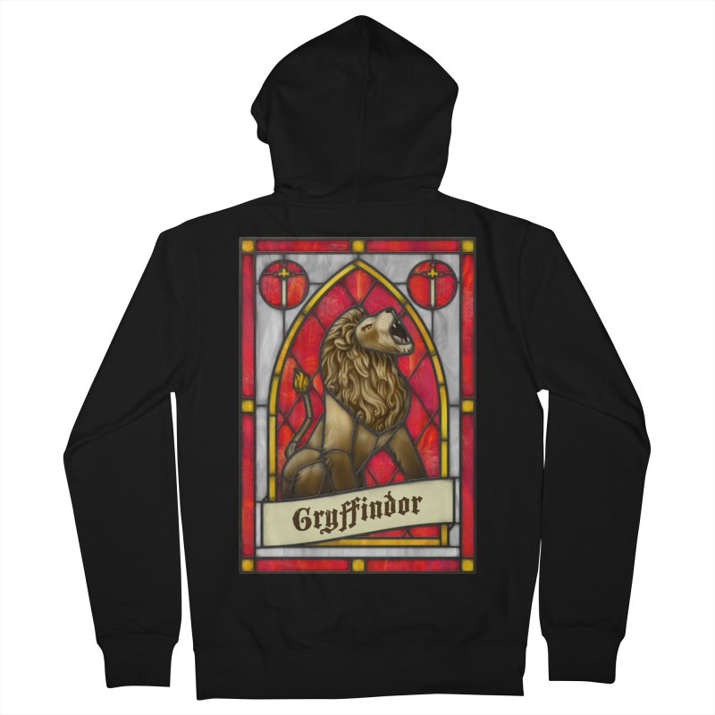 Stained Glass Series - Gryffindor Men's Zip-Up Hoody by Ian Leino @ Threadless