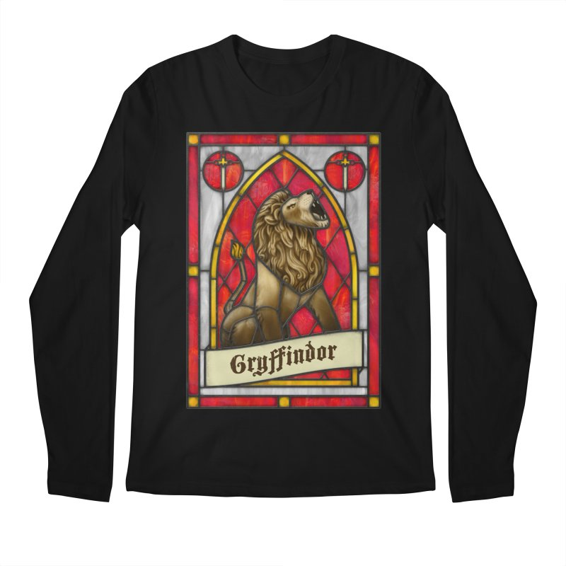 Stained Glass Series - Gryffindor Men's Longsleeve T-Shirt by Ian Leino @ Threadless