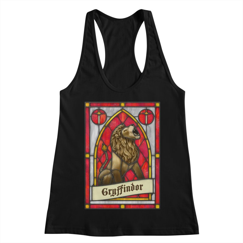 Stained Glass Series - Gryffindor Women's Racerback Tank by Ian Leino @ Threadless