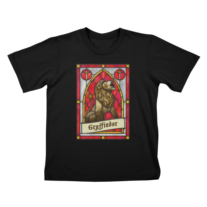 Stained Glass Series - Gryffindor Kids T-Shirt by Ian Leino @ Threadless