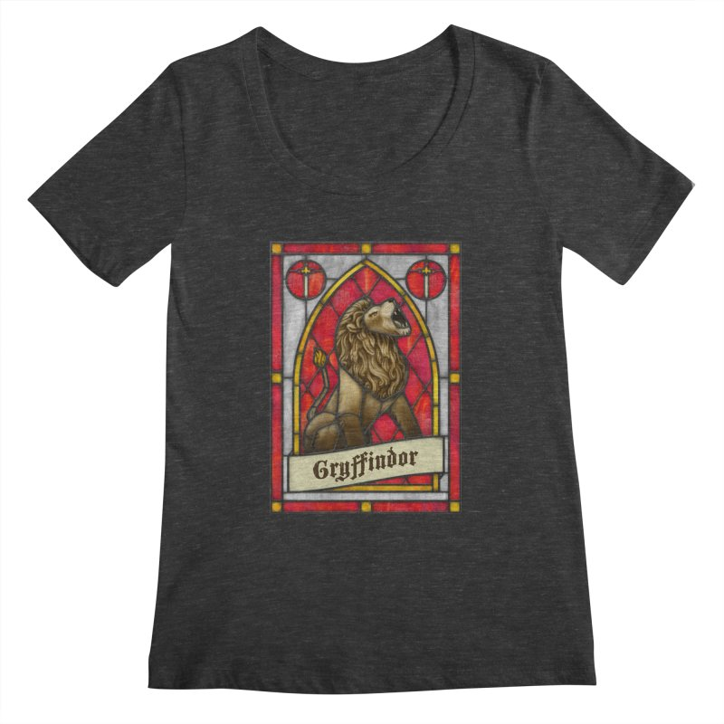 Stained Glass Series - Gryffindor Women's Scoopneck by Ian Leino @ Threadless