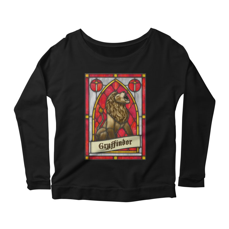 Stained Glass Series - Gryffindor Women's Scoop Neck Longsleeve T-Shirt by Ian Leino @ Threadless