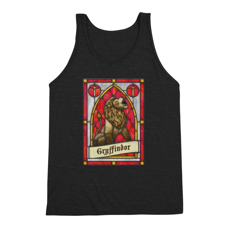 Stained Glass Series - Gryffindor Men's Triblend Tank by Ian Leino @ Threadless