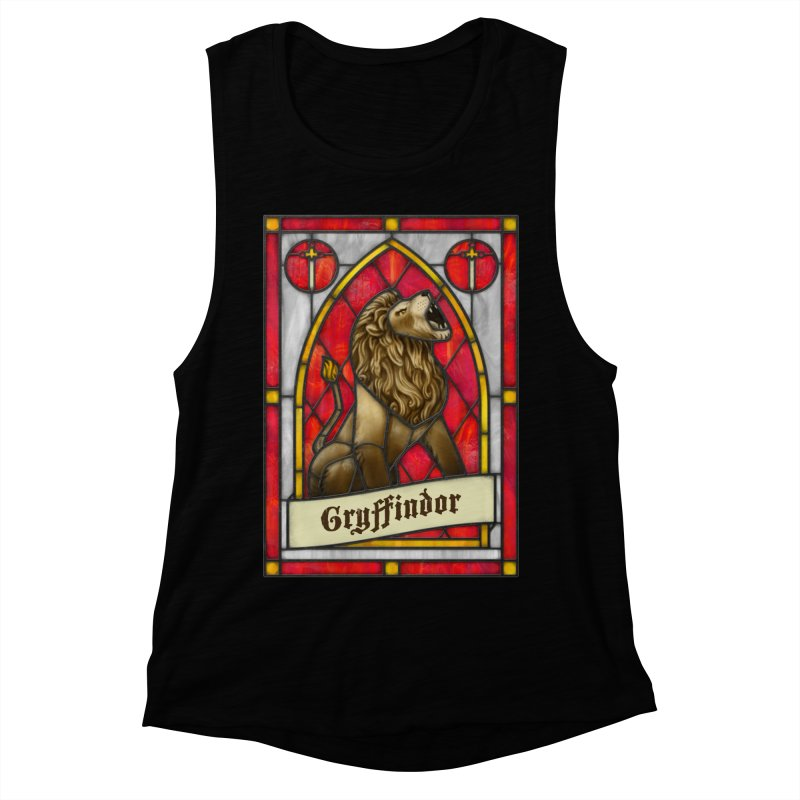 Stained Glass Series - Gryffindor Women's Muscle Tank by Ian Leino @ Threadless