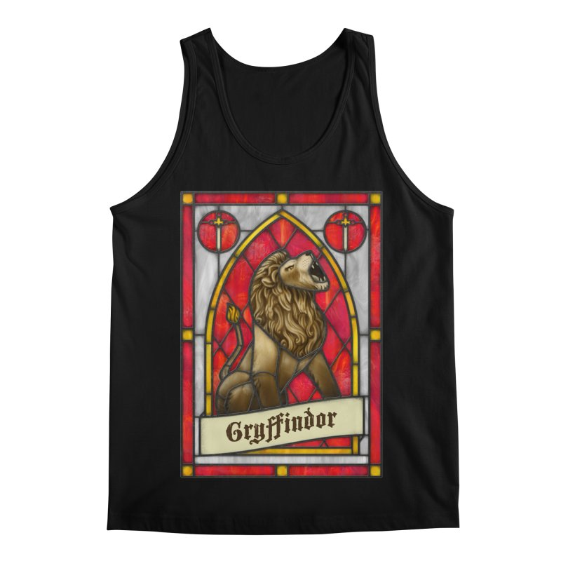 Stained Glass Series - Gryffindor Men's Regular Tank by Ian Leino @ Threadless