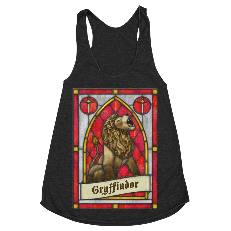 Stained Glass Series - Gryffindor Women's Racerback Triblend Tank by Ian Leino @ Threadless