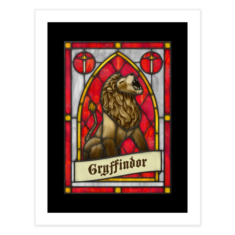 Stained Glass Series - Gryffindor Home Fine Art Print by Ian Leino @ Threadless