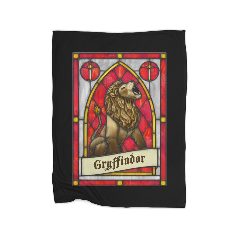 Stained Glass Series - Gryffindor Home Blanket by Ian Leino @ Threadless