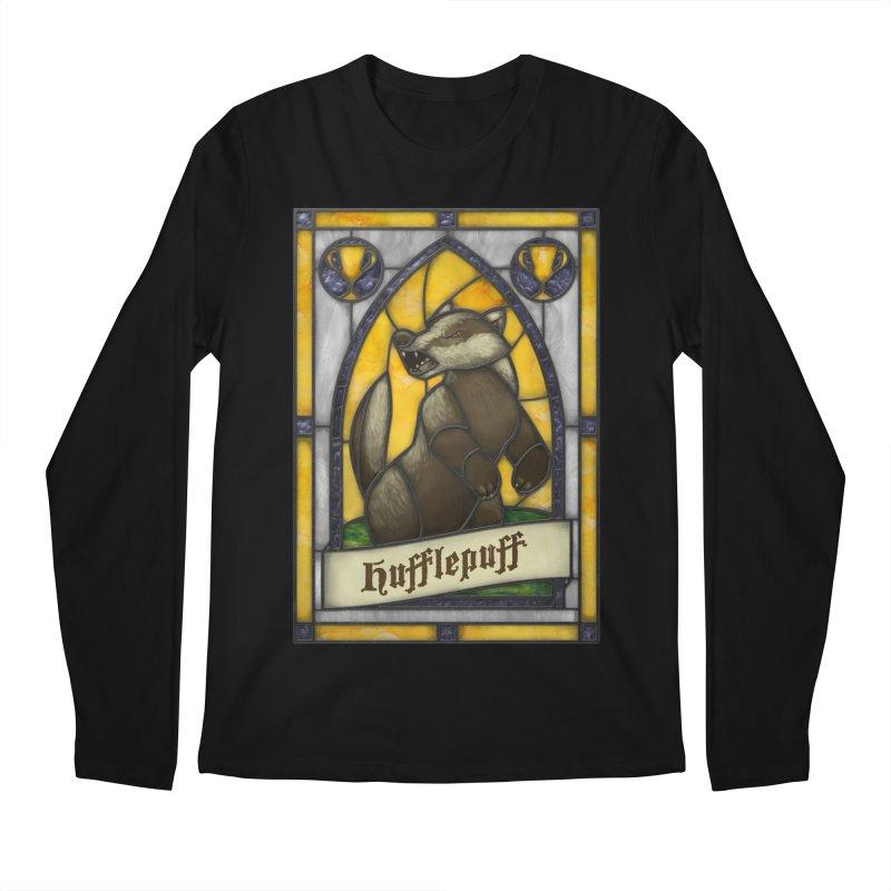 Stained Glass Series - Hufflepuff Men's Longsleeve T-Shirt by Ian Leino @ Threadless