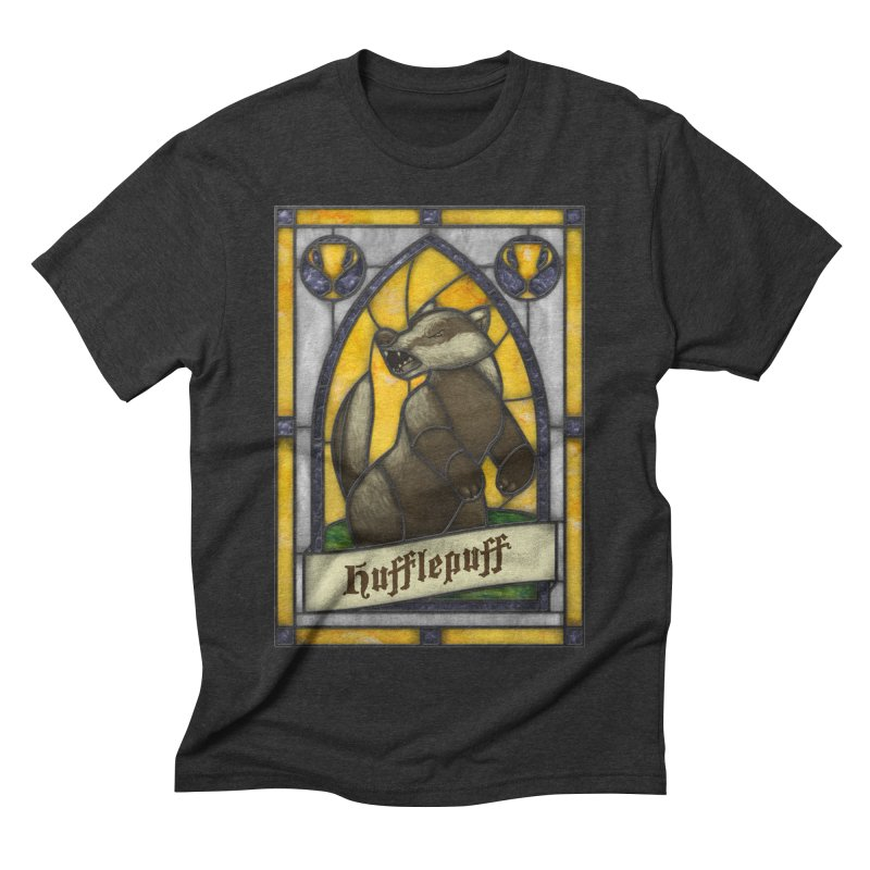 Stained Glass Series - Hufflepuff Men's T-Shirt by Ian Leino @ Threadless