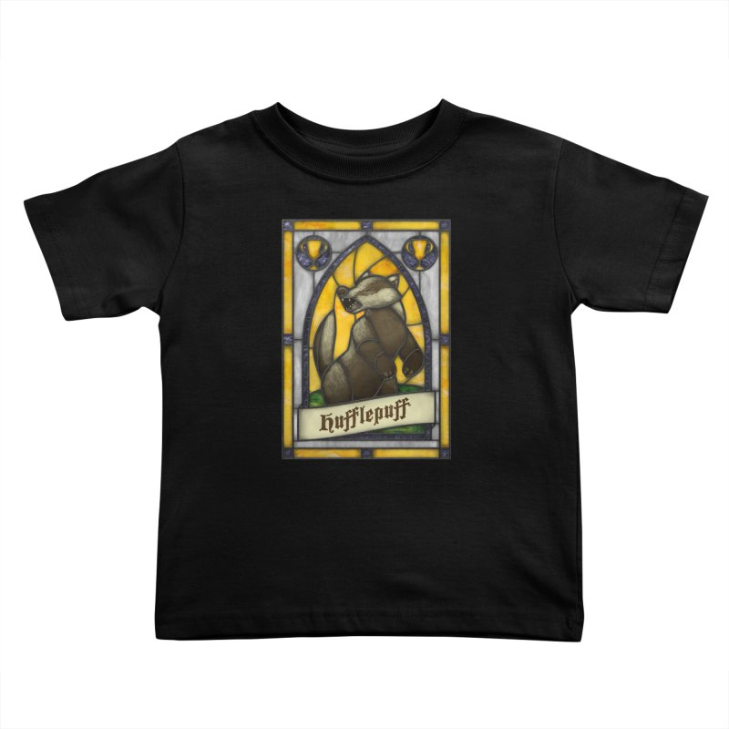 Stained Glass Series - Hufflepuff Kids Toddler T-Shirt by Ian Leino @ Threadless