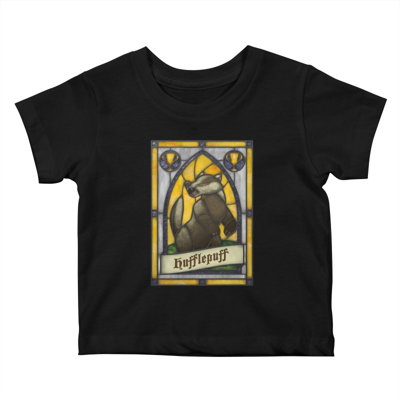 Stained Glass Series - Hufflepuff Kids Baby T-Shirt by Ian Leino @ Threadless