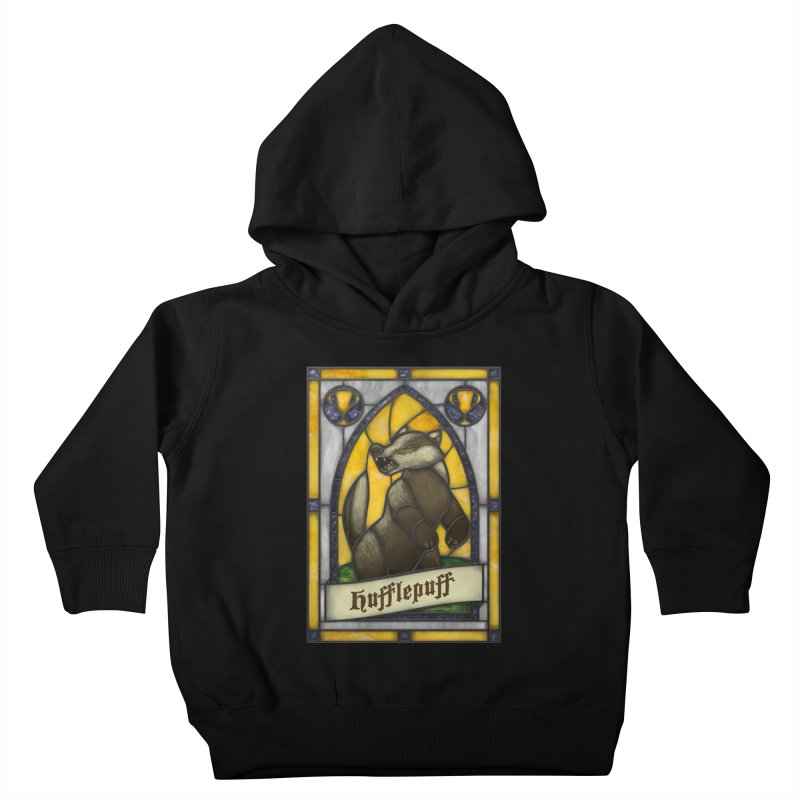 Stained Glass Series - Hufflepuff Kids Toddler Pullover Hoody by Ian Leino @ Threadless