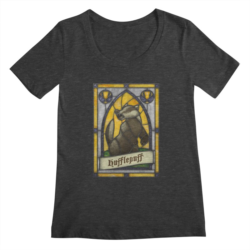Stained Glass Series - Hufflepuff Women's Scoopneck by Ian Leino @ Threadless