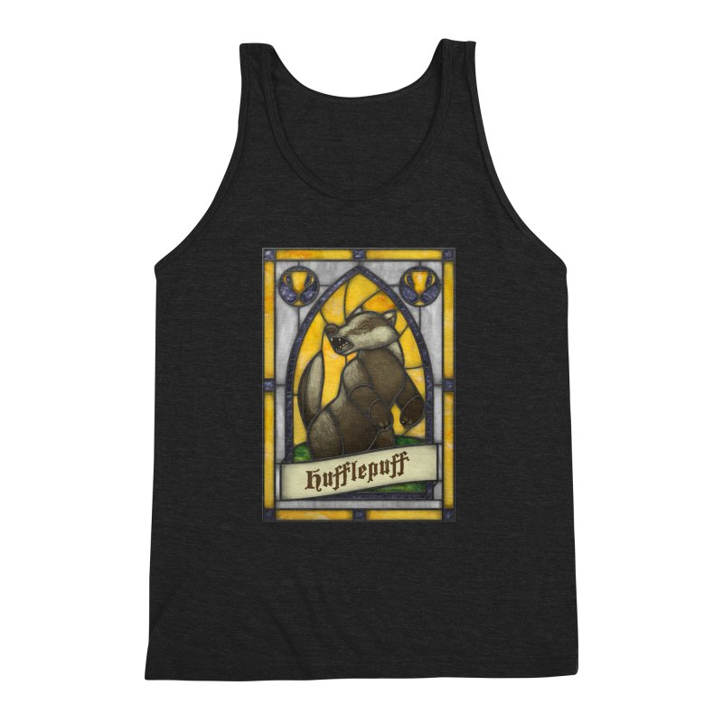 Stained Glass Series - Hufflepuff Men's Triblend Tank by Ian Leino @ Threadless