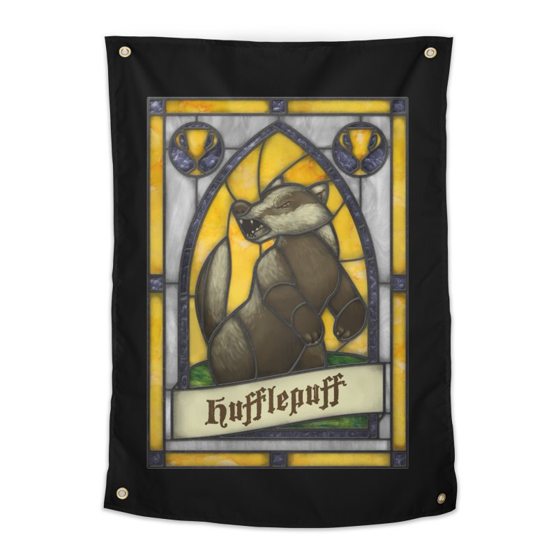 Stained Glass Series - Hufflepuff Home Tapestry by Ian Leino @ Threadless