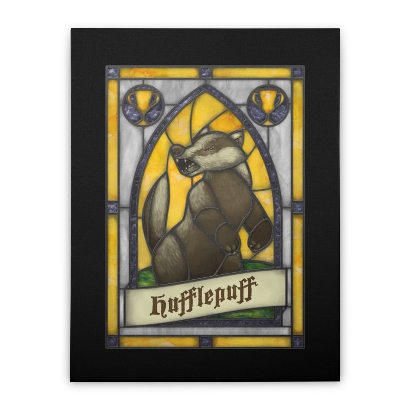 Stained Glass Series - Hufflepuff Home Stretched Canvas by Ian Leino @ Threadless