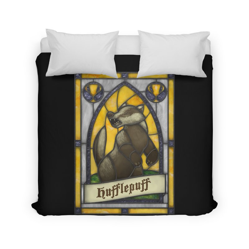 Stained Glass Series - Hufflepuff Home Duvet by Ian Leino @ Threadless