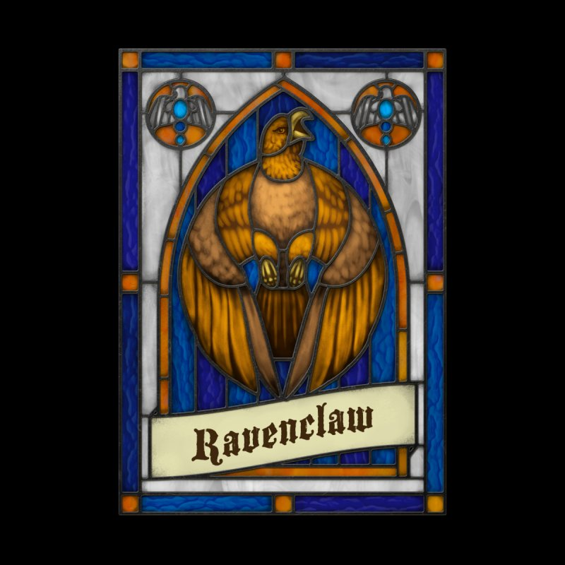 Stained Glass Series - Ravenclaw Men's T-Shirt by Ian Leino @ Threadless