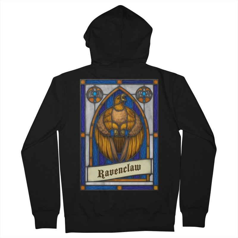 Stained Glass Series - Ravenclaw Men's Zip-Up Hoody by Ian Leino @ Threadless