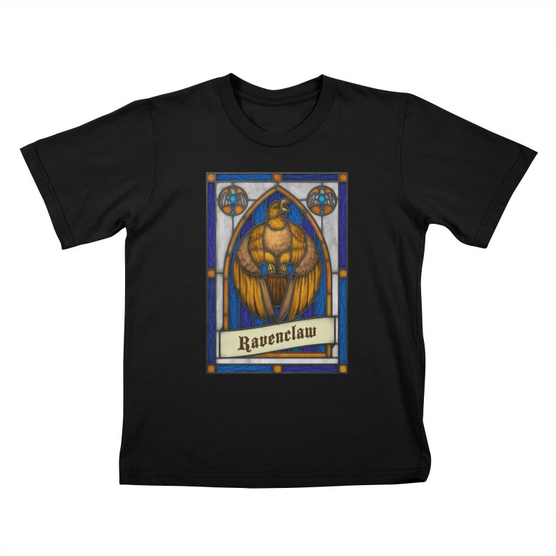 Stained Glass Series - Ravenclaw Kids T-Shirt by Ian Leino @ Threadless