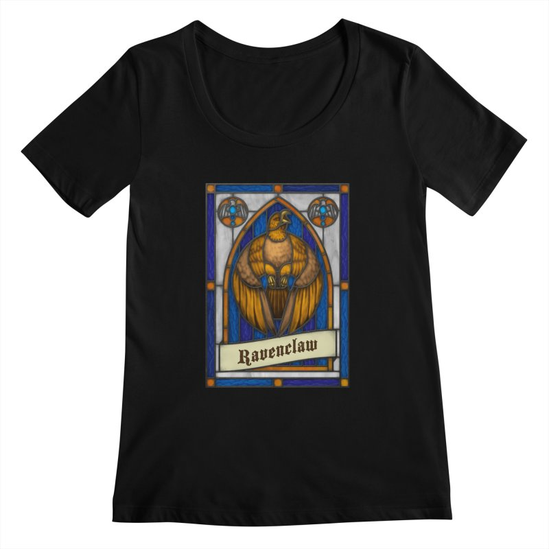 Stained Glass Series - Ravenclaw Women's Scoopneck by Ian Leino @ Threadless