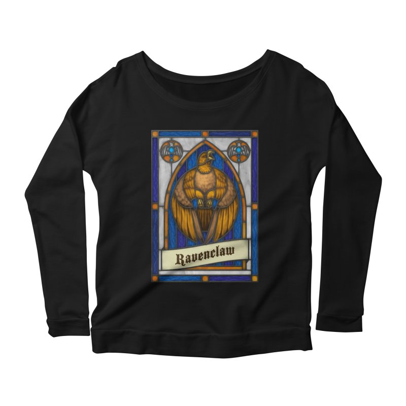Stained Glass Series - Ravenclaw Women's Scoop Neck Longsleeve T-Shirt by Ian Leino @ Threadless