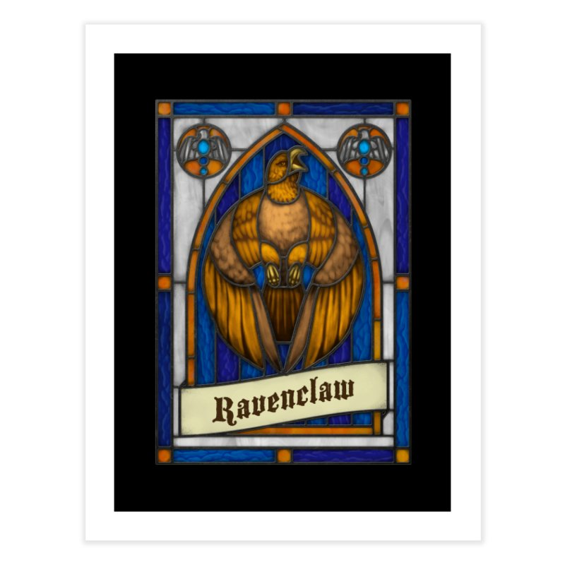 Stained Glass Series - Ravenclaw Home Fine Art Print by Ian Leino @ Threadless