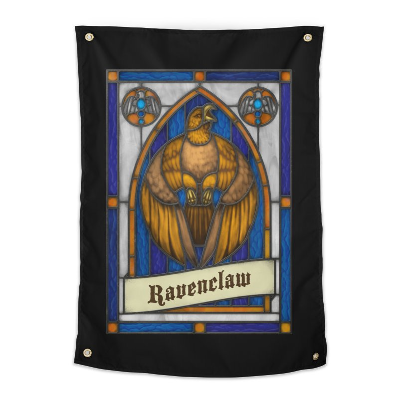 Stained Glass Series - Ravenclaw Home Tapestry by Ian Leino @ Threadless