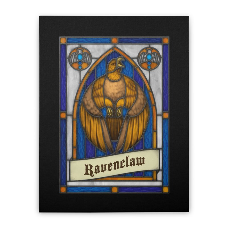 Stained Glass Series - Ravenclaw Home Stretched Canvas by Ian Leino @ Threadless