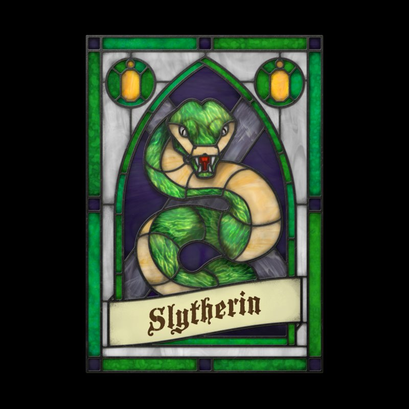 Stained Glass Series - Slytherin Men's Tank by Ian Leino @ Threadless