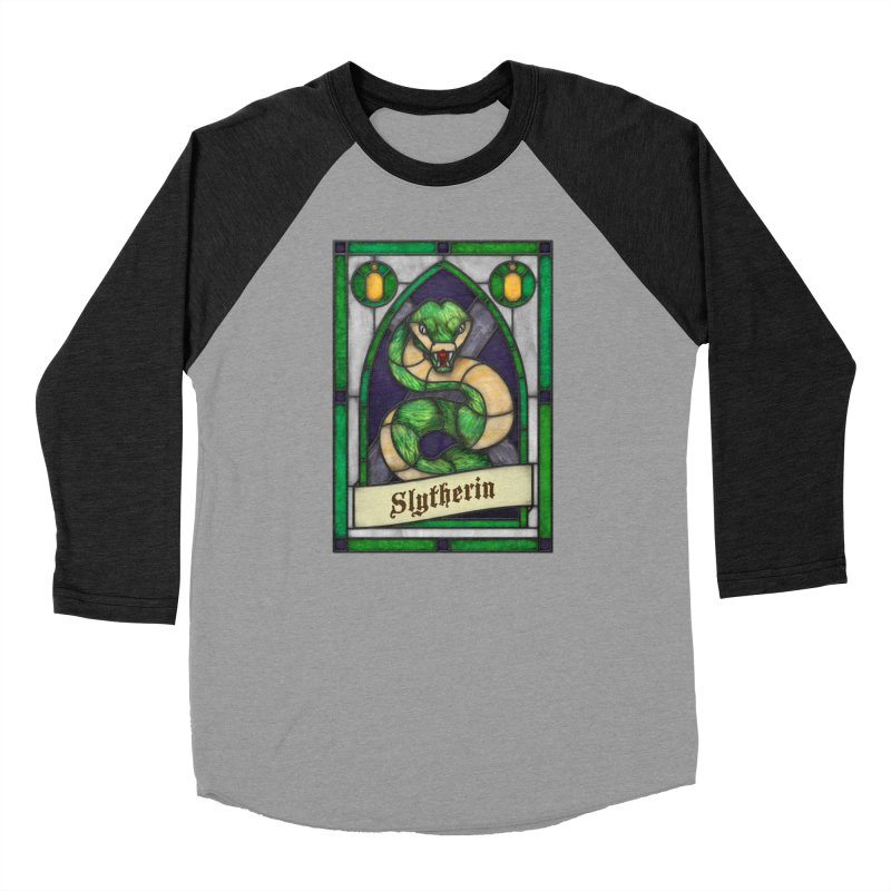 Stained Glass Series - Slytherin Men's Longsleeve T-Shirt by Ian Leino @ Threadless